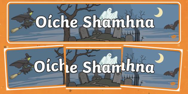 Oíche Shamhna Display Banner Gaeilge