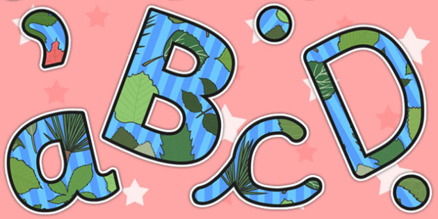 Leaf Themed Display Lettering - leaf, leaves, plants, letters