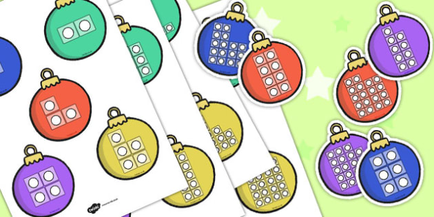 Bauble Counting Numbers - bauble, counting, numbers, christmas