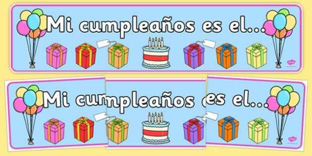Birthday Board Banner Spanish - spanish, birthday, board, banner, display, birthday board