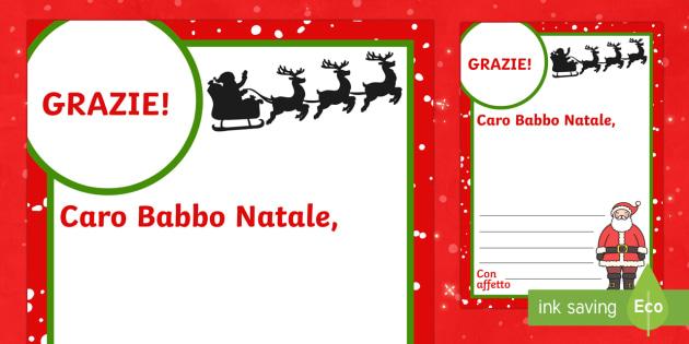 Lettera di ringraziamento a Babbo Natale - Lettera di ringraziamento, babbo natale, Natale, letterina, scrittura, indipendente, esercizio, scri