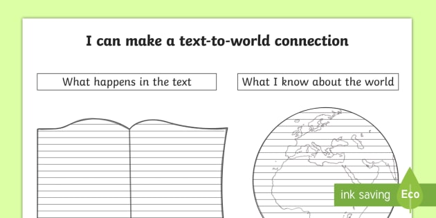 text to world connections worksheet the best and most comprehensive worksheets. Black Bedroom Furniture Sets. Home Design Ideas