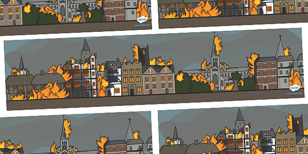 The Great Fire of London Events Small World Background - Great Fire of London, 1666, great fire, Small World, backdrop, background, scenery, small world area, small world display, small world resources, pudding lane, fires, peyps, bakery, timeline, e