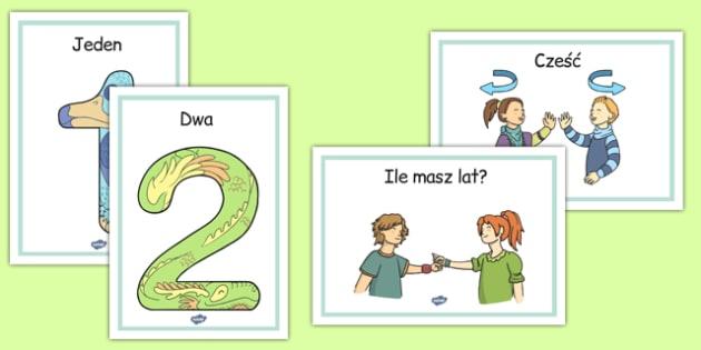 Plakaty Przedstawianie się po polsku - imię, wiem, o sobie