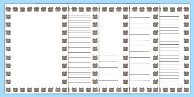 Hospital Portrait Page Borders- Portrait Page Borders - Page border, border, writing template, writing aid, writing frame, a4 border, template, templates, landscape