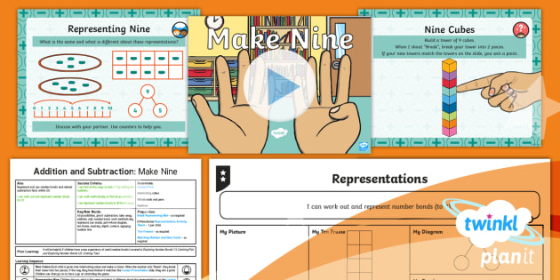 PlanIt Maths Y1 Addition and Subtraction Lesson Pack Exploring Number Bonds (3) - Part Whole