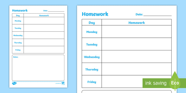 junior infants weekly homework planning template back to school junior infantsirish