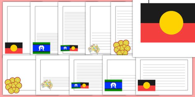 Aboriginal Torres Strait Islanders Page Borders Pack - border