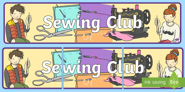 Sewing Club Display Banner - sewing club, sewing, display banner, display, banner, banner for display, header, themed header, header for display
