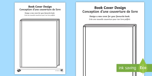 Book Cover Template Twinkl : Editable design a book cover activity sheet english french
