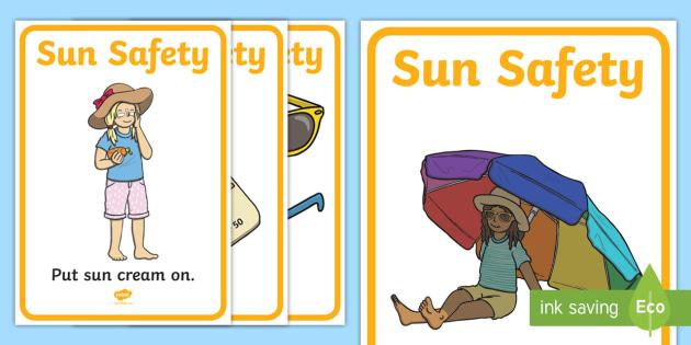 Sun Safety Display Posters - sun, summer, safety, sun safety