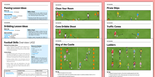 lks2 football skills pack football pe sport exercise ks2 lks2 key. Black Bedroom Furniture Sets. Home Design Ideas