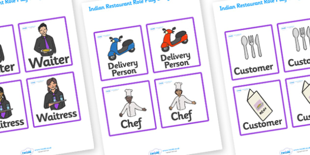 Indian Restaurant Role Play Badges - Indian restaurant, role play, curry, food, takeaway, badge, role play badges, menu, Indian culture, India, poppdom