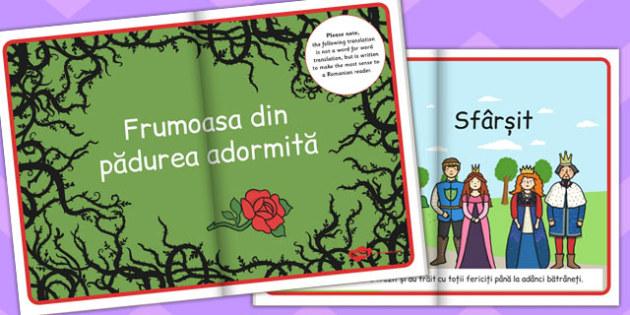 Frumoasa din Padurea Adormita, poveste ilustrata, rezumat, Romanian