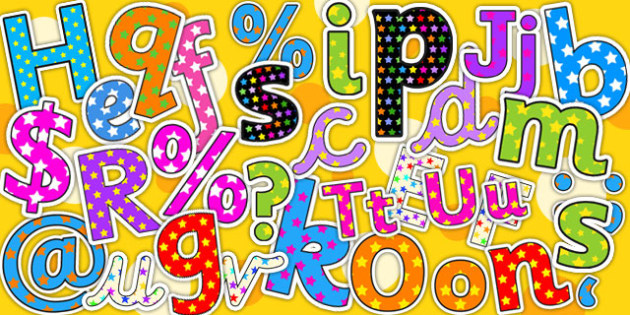 Starry Display Lettering Variety Pack - display, lettering, pack