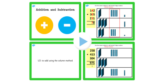 Year 3 Addition and Subtraction Lesson 3f Adding 3 Numbers or More PowerPoint