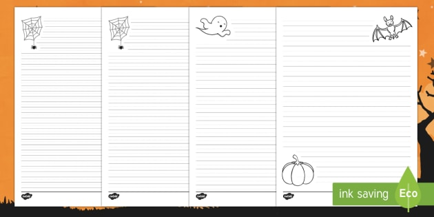 Halloween Differentiated Handwriting Guidelines Resource Pack