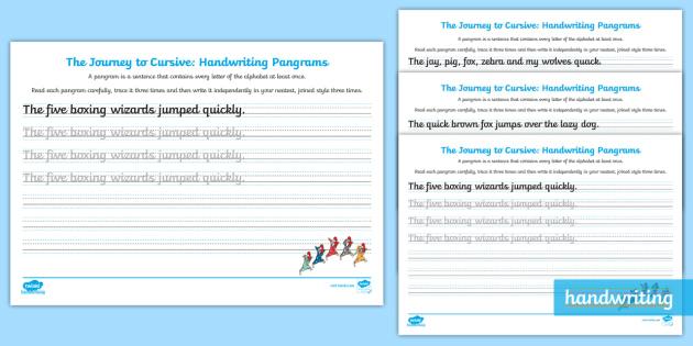 Handwriting sheets cursive ks1