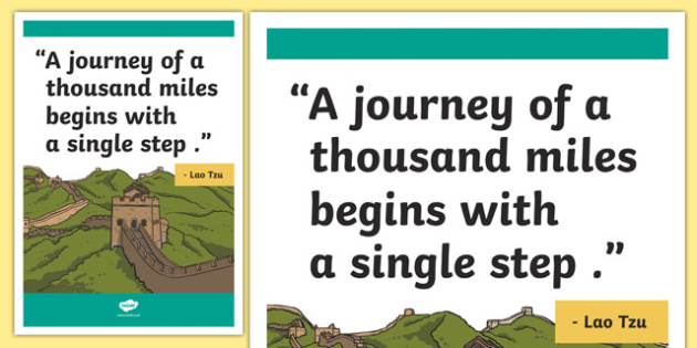 Tzu Inspirational Classroom Quote Display Poster
