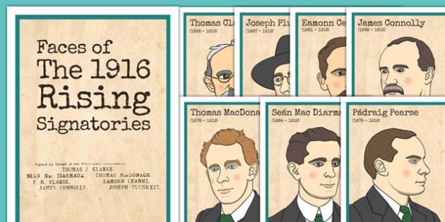 1916 Rising Signatories Posters - Easter 1916 Rising, irish history, proclamation of ireland, signatories, display posters