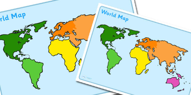 Jungle Animal Themed World Map Poster-walking through the jungle, world map, poster, jungle, geography, world, earth, display posters