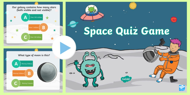 Space Quiz Multiple Choice Game PowerPoint - powerpoint