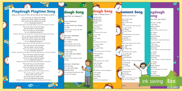 Playdough Play Songs and Rhymes Resource Pack - Playdough Play, dough disco, finger gym, fine motor skills, physical development.