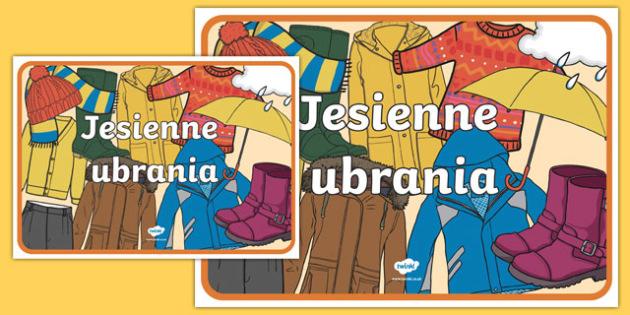 Autumn Clothes Display Poster Polish-Polish