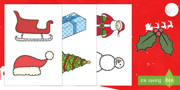 Christmas Threading Cut Outs - threading cards, fine motor skills, activities, junior infants, senior infants, early years, foundat