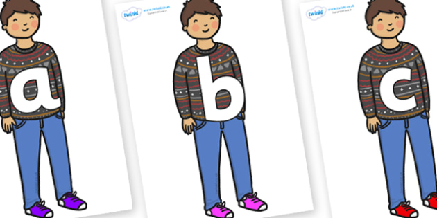 Phoneme Set on Little Boy - Phoneme set, phonemes, phoneme, Letters and Sounds, DfES, display, Phase 1, Phase 2, Phase 3, Phase 5, Foundation, Literacy