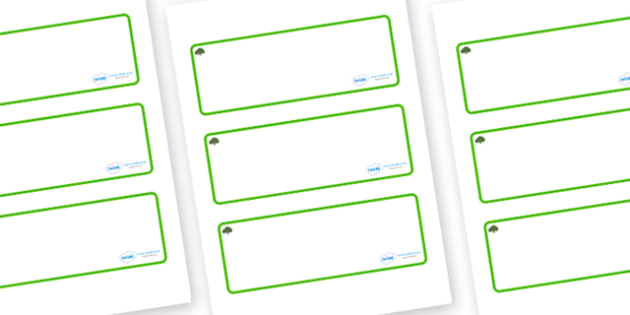 Yew Tree Themed Editable Drawer-Peg-Name Labels (Blank) - Themed Classroom Label Templates, Resource Labels, Name Labels, Editable Labels, Drawer Labels, Coat Peg Labels, Peg Label, KS1 Labels, Foundation Labels, Foundation Stage Labels, Teaching Lab