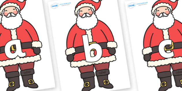 Phoneme Set on Father Christmas - Phoneme set, phonemes, phoneme, Letters and Sounds, DfES, display, Phase 1, Phase 2, Phase 3, Phase 5, Foundation, Literacy