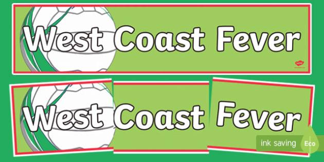 West Coast Fever Netball Display Banner-Australia