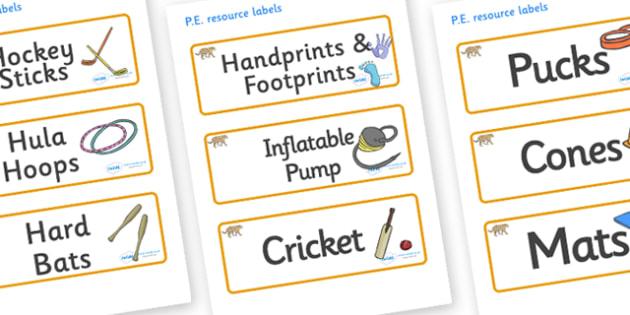 Jaguar Themed Editable PE Resource Labels - Themed PE label, PE equipment, PE, physical education, PE cupboard, PE, physical development, quoits, cones, bats, balls, Resource Label, Editable Labels, KS1 Labels, Foundation Labels, Foundation Stage Lab