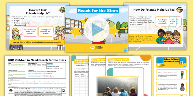 BBC Children in Need KS1 Reach for the Stars Lesson Pack