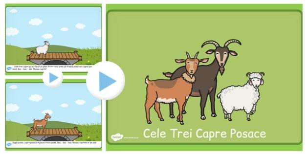 Cele trei capre posace - Poveste prezentare Power Point - cele trei capre posace, poveste, prezentare, Power Point, imagini, cuvinte, materiale, materiale didactice, română, romana, material, material didactic