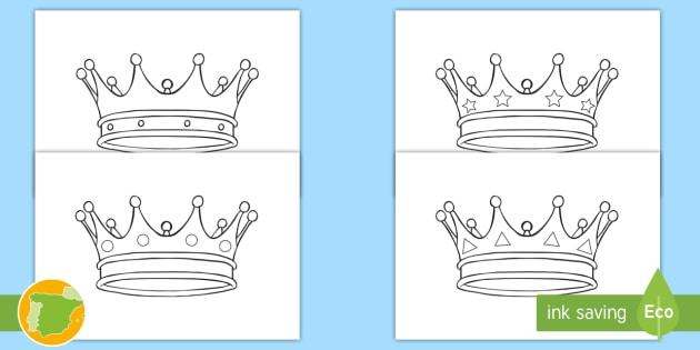 Hojas de colorear: Coronas del castillo medieval - edad media