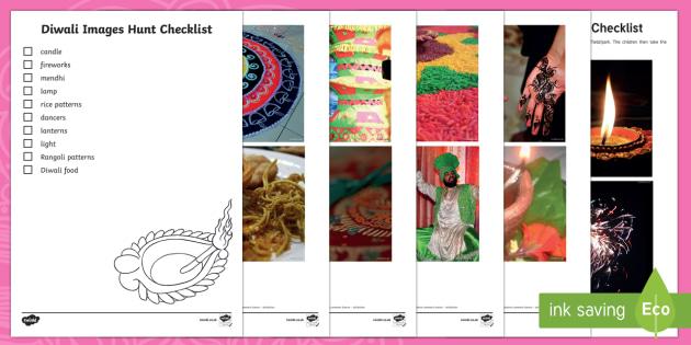 Diwali Images Hunt Checklist