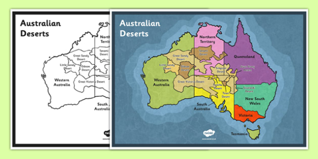 Map Of Australia Desert.Australian Deserts Map Science Geography Habitats Australian