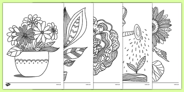 plants and growth themed mindfulness colouring sheets plants and growth mindfulness colouring sheets - Colouring In Picture