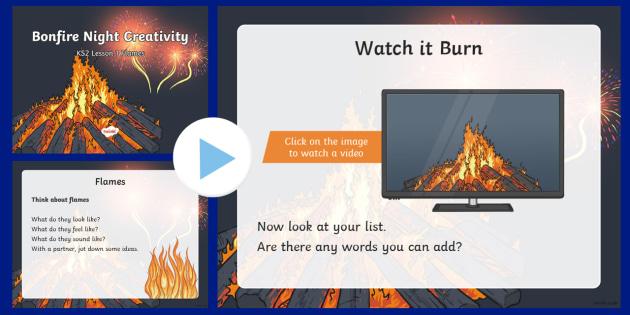 Bonfire Night Creativity Lesson 1 Flames PowerPoint