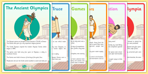 The History Of The Olympics Display Posters - Olympics, Olympic Games, sports, Olympic, London, 2012, history, display, poster, banner, sign, Olympic torch, flag, countries, medal, Olympic Rings, mascots, flame, compete, tennis, athlete, swimming, ra