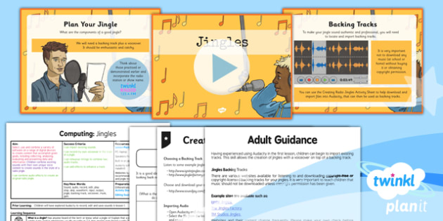 Computing: Radio Station: Jingles Year 5 Lesson Pack 2