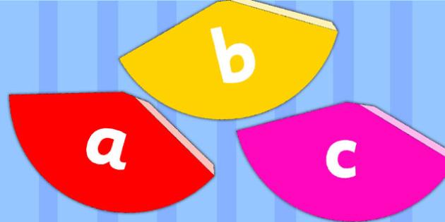 Alphabet Cones - visual aid, spelling aid, writing aid, display