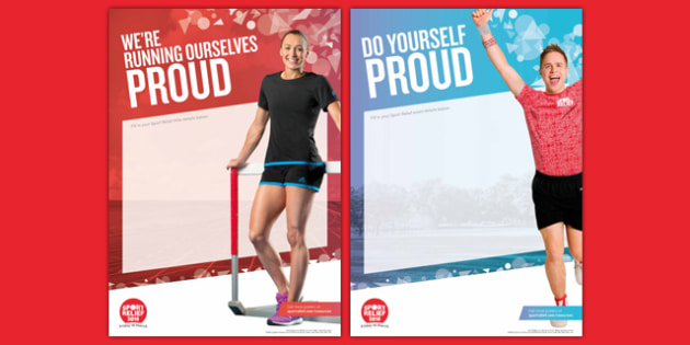 Sport Relief 2016 Event Poster (Primary) - sport relief 2016, event poster