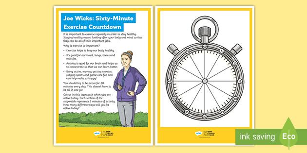 Joe Wicks: Sixty Minute Exercise Countdown
