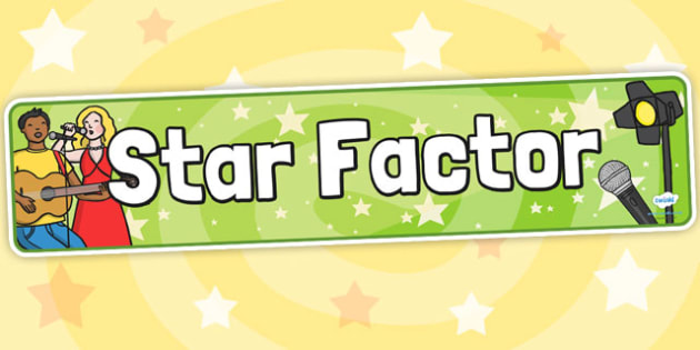 Star Factor Role Play Display Banner - role play, star factor