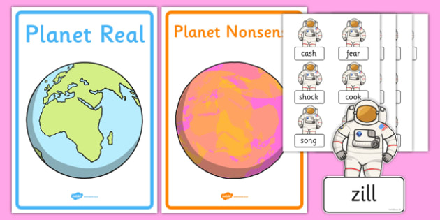 Phase 3 Real and Nonsense Words Sorting Activity Sheet, worksheet