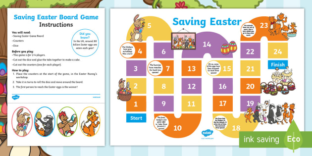 Saving Easter Board Game Esl Schools Teacher Made
