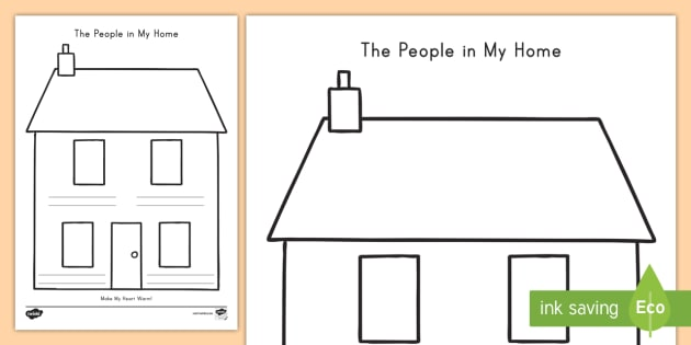 The People In My Home Worksheet Activity Sheet Family
